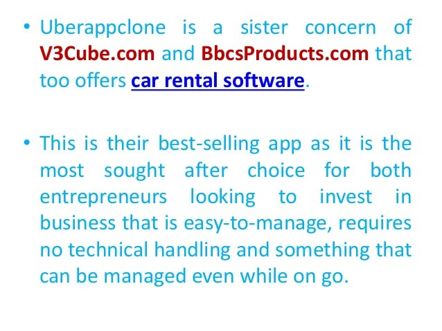 V3 Cube Uberclone App Car Rental Software Review