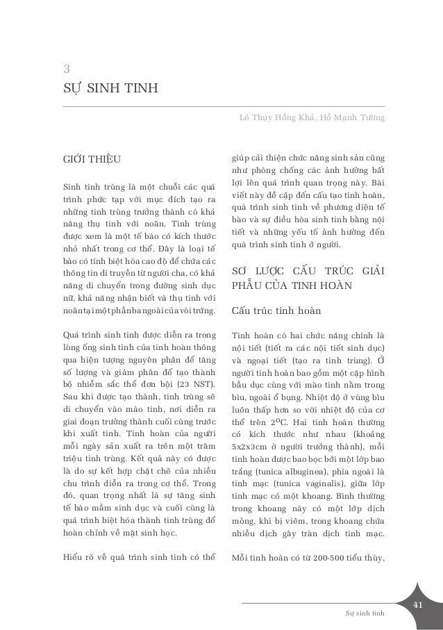 41 Söï sinh tinh SÖÏ SINH TINH Leâ Thuïy Hoàng Khaû, Hoà Maïnh Töôøng GIÔÙI THIEÄU Sinh tinh truøng laø moät chuoãi caùc q...