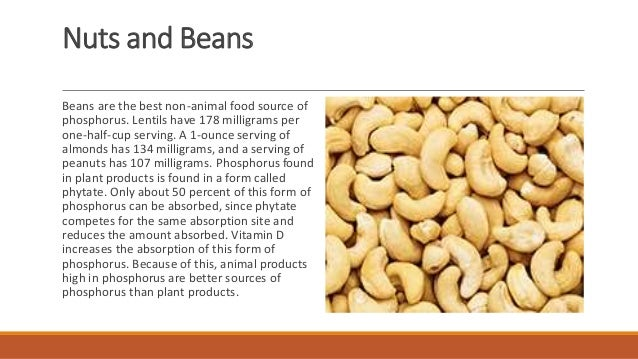 9 Food Sources Of Phosphorus Mineral A Presentation To Nutrition By