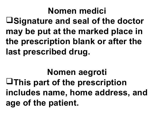 Prescription And Drug Prescription Writing