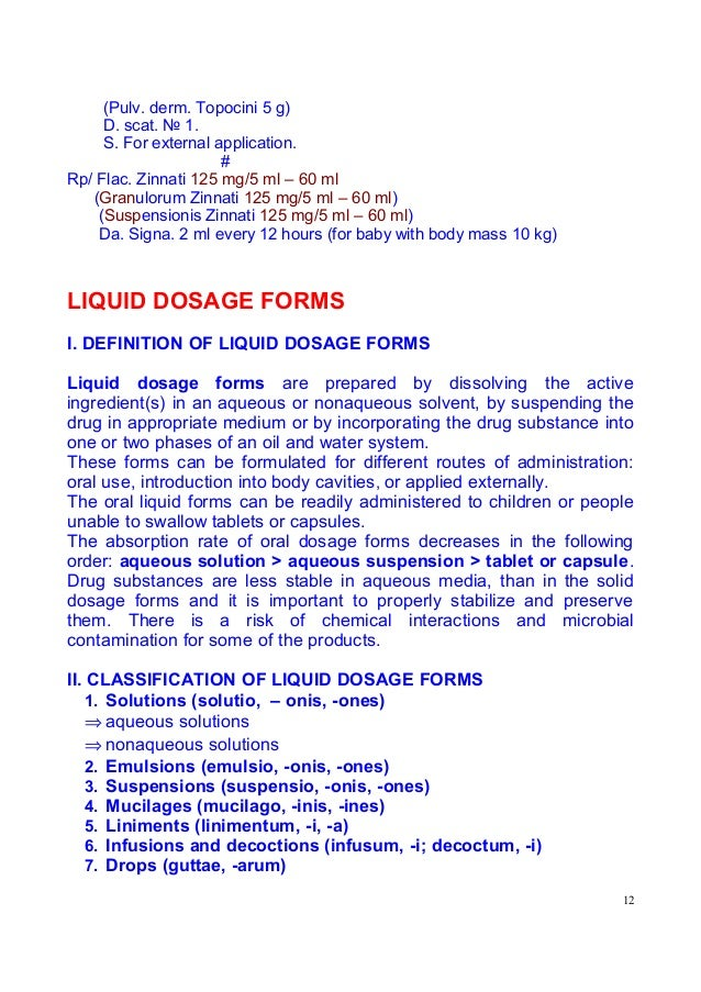 Drugs & Dosage forms