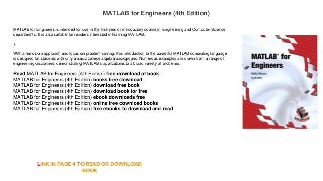 Matlab For Engineers 4th Edition Free Download E Book