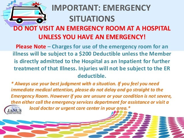 Emergency Room Copayment