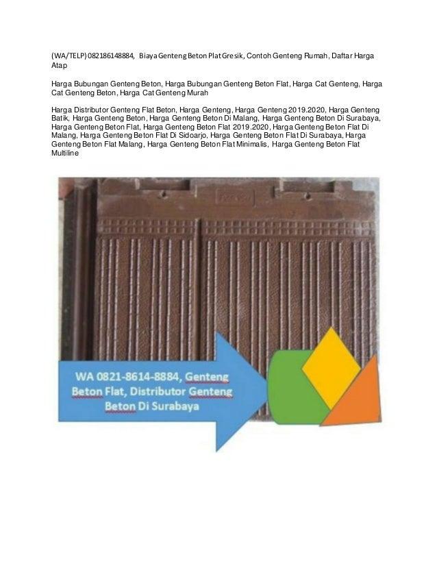 Wa Telp 082186148884 Daftar Harga Genteng Beton Flat Manado Suppl