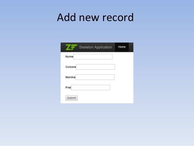 Add new record