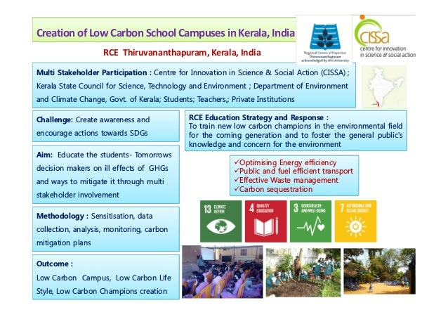 Creation of Low Carbon School Campuses in Kerala, India Multi Stakeholder Participation : Centre for Innovation in Science...