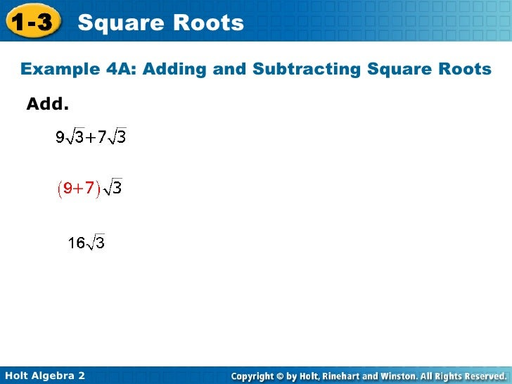 adding and subtracting square roots worksheet Termolak – Adding Radicals Worksheet
