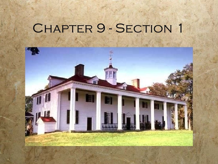 Chapter 9 - Section 1
