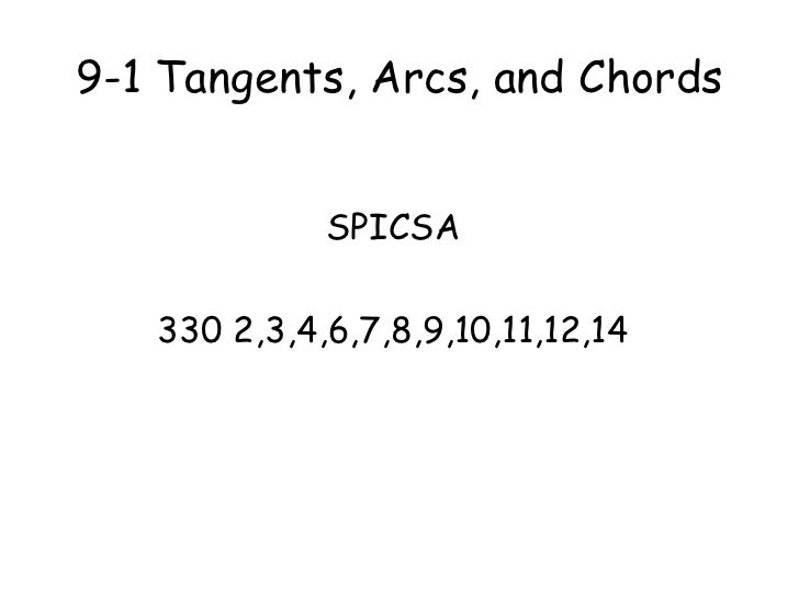 9 1 Tangents Arcs And Chords