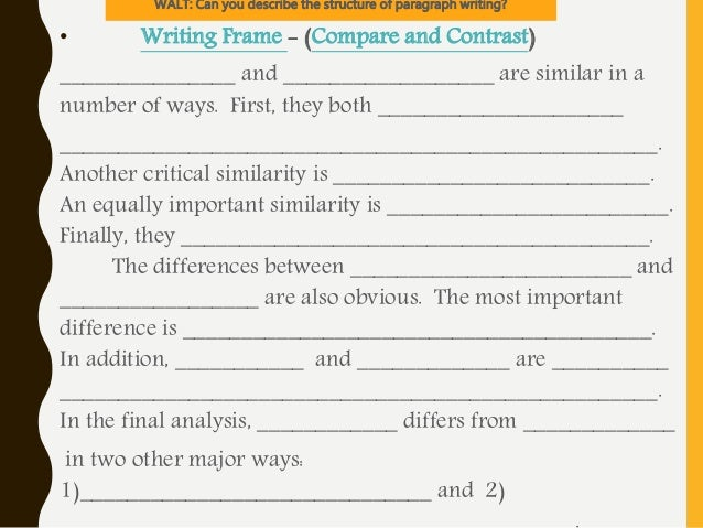 a comparison of framing light essay Choose whether you will write a classic or a keyhole/lens comparison essay consult your assignment instructions to check whether your instructor has made this.