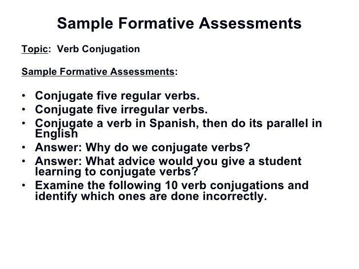 Pd On Formative Assessments