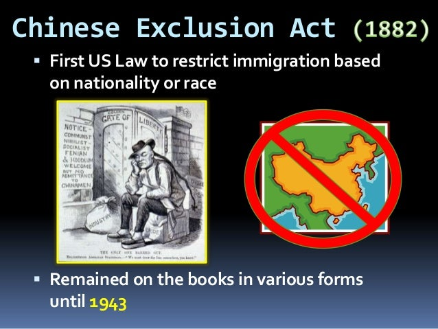 the chinese exclusion act essay Citation: an act to execute certain treaty stipulations relating to the chinese, may  6, 1882  in the wake of the chinese exclusion act, the students from china  faced  a prize-winning essay on the american college man by lee ting  chen.