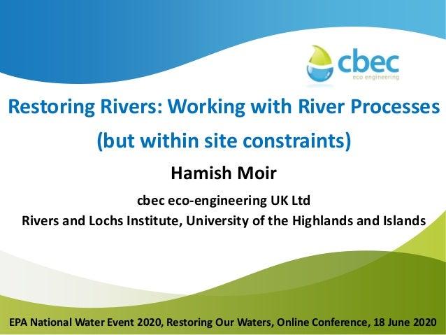 Insert Main Title Insert Subtitle Insert Date Presenter #1 Presenter #2 Restoring Rivers: Working with River Processes (bu...