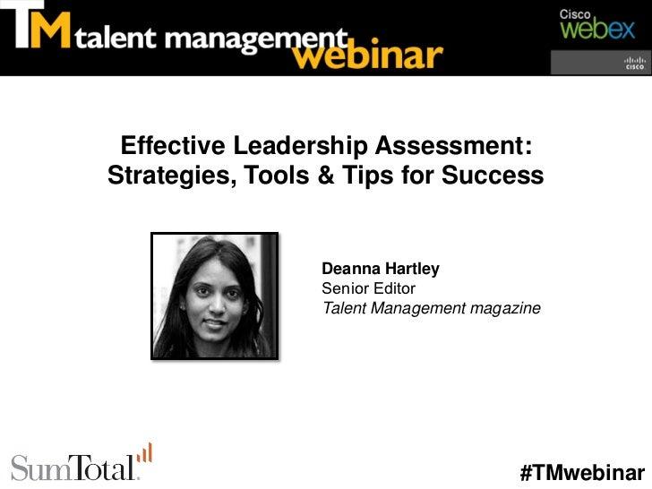 Effective Leadership Assessment: Strategies, Tools & Tips