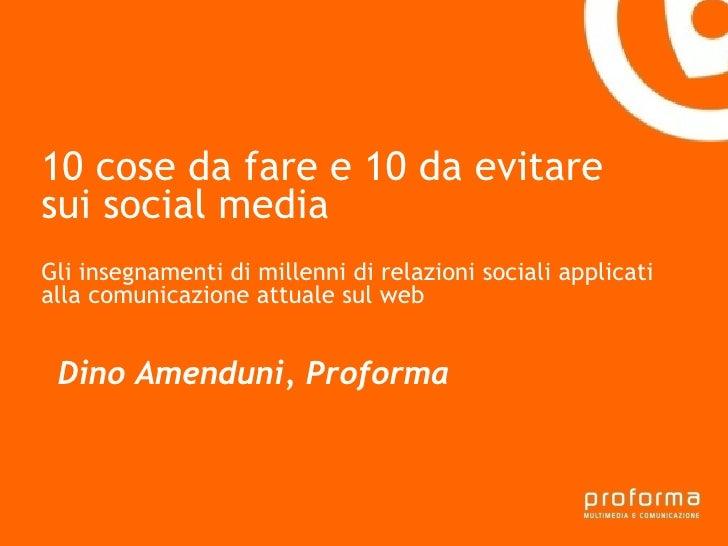 Strategia di comunicazione Gianni Florido e la Provincia di Taranto 10 cose da fare e 10 da evitare sui social media Gli i...