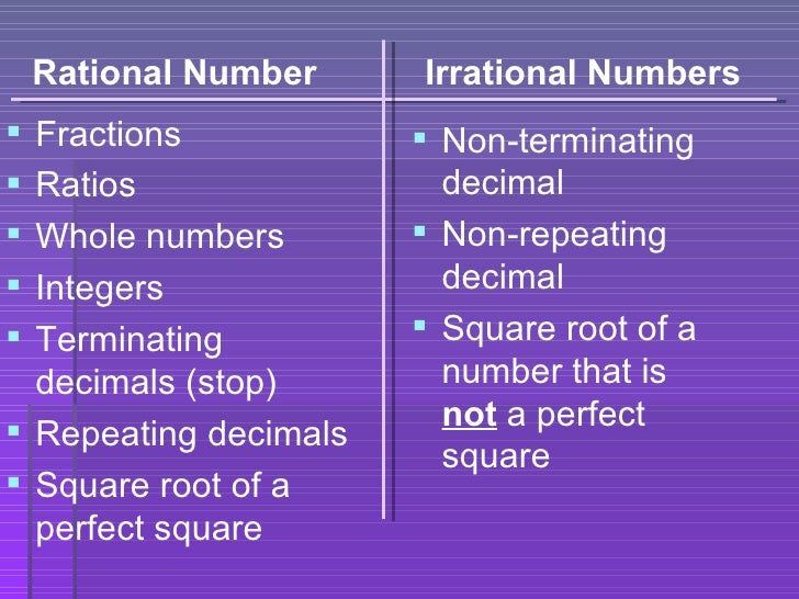 9.2 rational and irrational numbers day 1