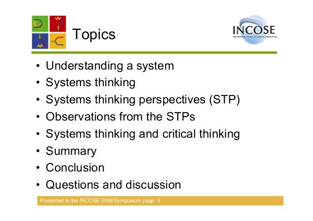 Applying systems thinking & aligning it to systems engineering Slide 3