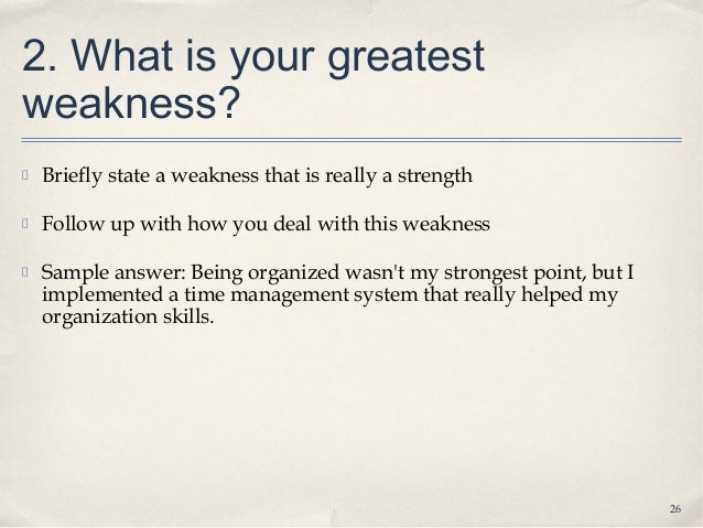 list of weaknesses for a job interview