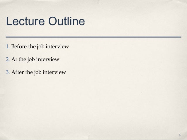 9.3 job interviews lecture student notes