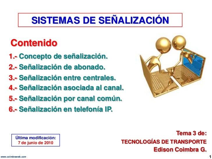 9.3 sistemas de senalizacion