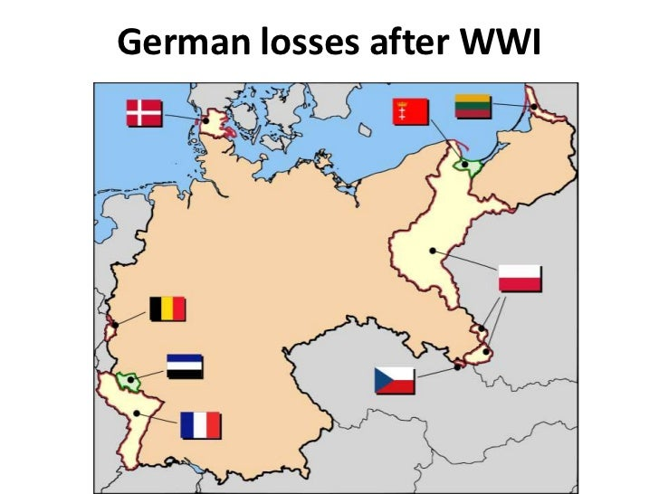 Effects Of Wwi - Germany map after ww1