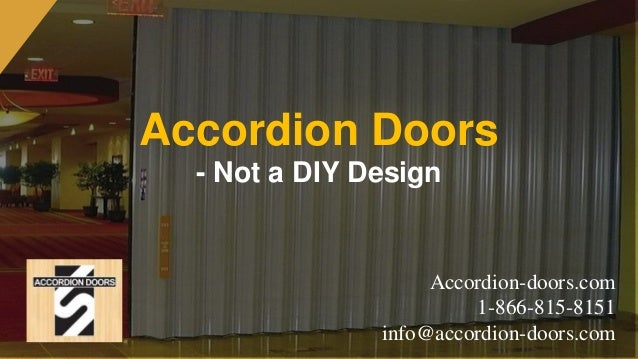 Accordion Doors   Not A DIY Design Accordion Doors.com 1 866  ...