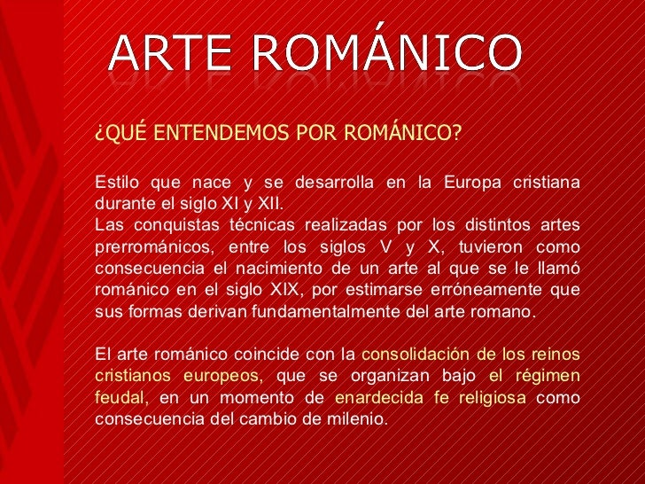 ARTE ROMÁNICO Slide 2