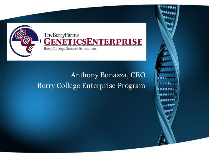 Anthony Bonazza, CEOBerry College Enterprise Program