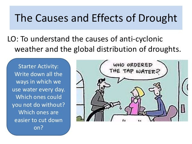 The Causes and Effects of DroughtLO: To understand the causes of anti-cyclonicweather and the global distribution of droug...