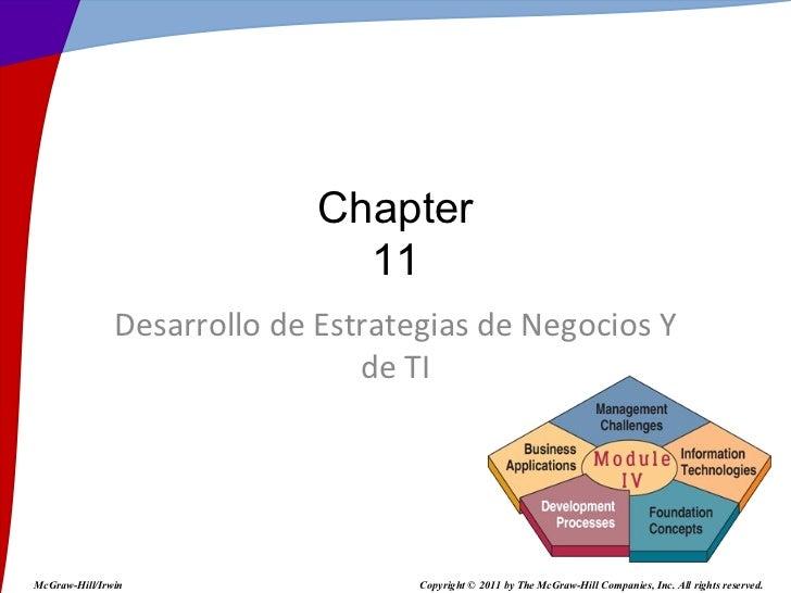 Chapter                               11               Desarrollo de Estrategias de Negocios Y                            ...