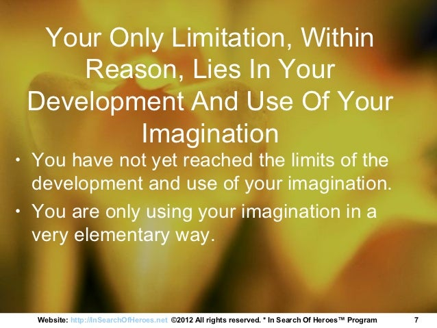 58a4b8d45 Napoleon Hill Think and Grow Rich Imagination
