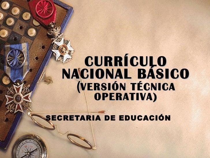9 cnb for Curriculo basico nacional