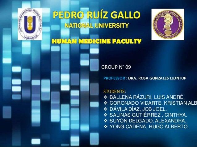 GROUP N° 09PROFESSOR : DRA. ROSA GONZALES LLONTOPSTUDENTS: BALLENA RÁZURI, LUIS ANDRÉ. CORONADO VIDARTE, KRISTIAN ALB D...