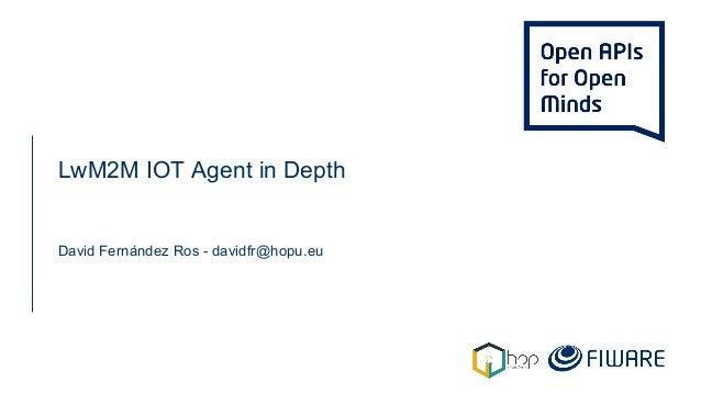 LwM2M IOT Agent in Depth David Fernández Ros - davidfr@hopu.eu