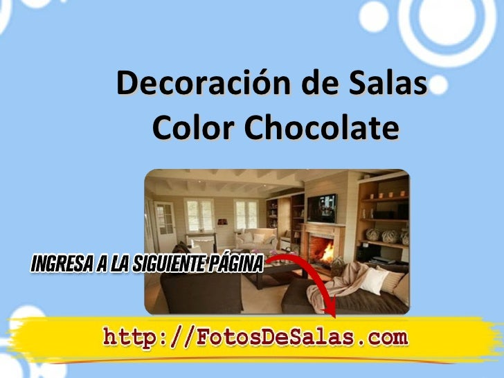 Decoración de Salas  Color Chocolate