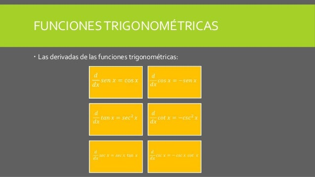 9. derivadas de las funciones trigonométricas Slide 2