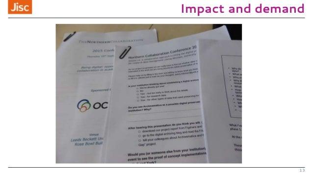 Impact and demand 13