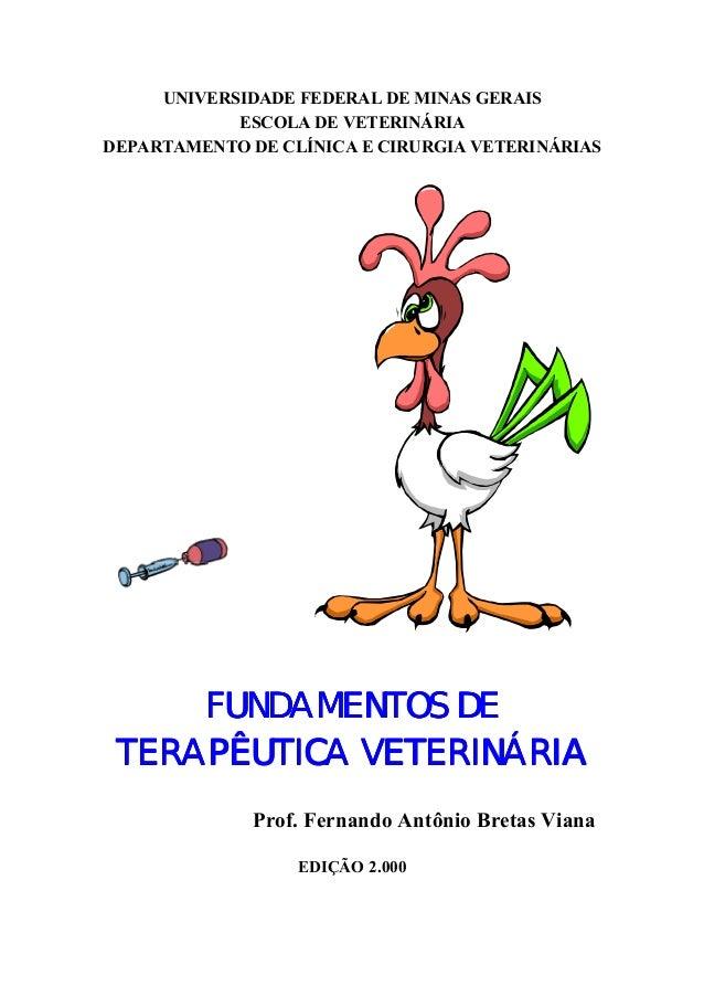 UNIVERSIDADE FEDERAL DE MINAS GERAIS ESCOLA DE VETERINÁRIA DEPARTAMENTO DE CLÍNICA E CIRURGIA VETERINÁRIAS FUNDAMENTOS DEF...
