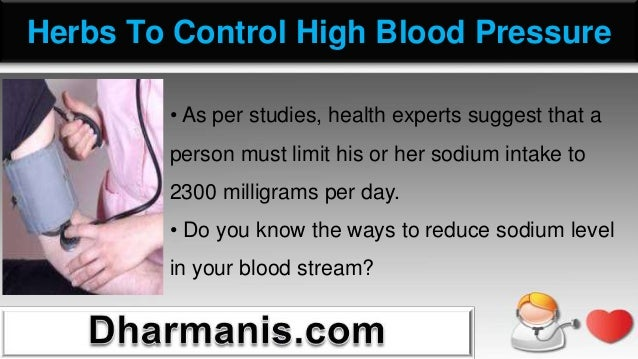 Reduce High Blood Pressure Food List