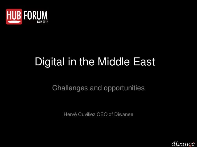 Digital in the Middle East   Challenges and opportunities      Hervé Cuviliez CEO of Diwanee