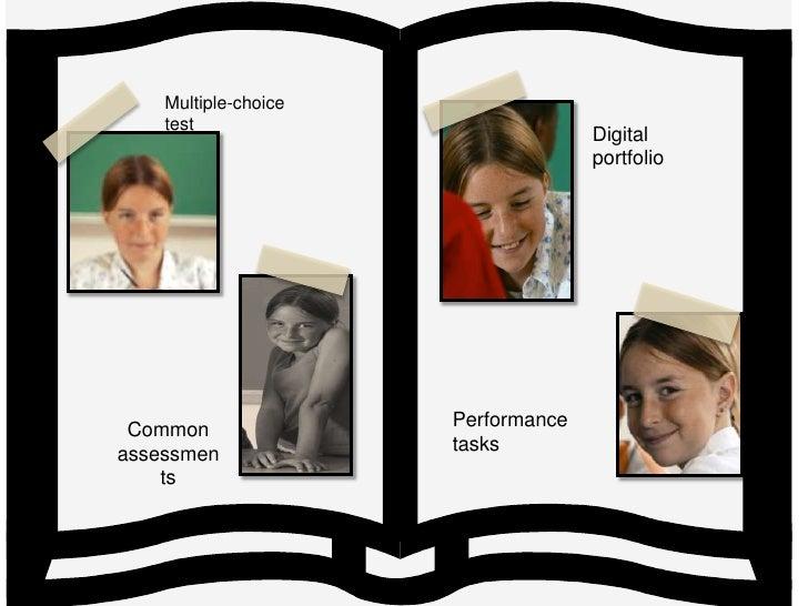 Multiple-choice test<br />Digital<br />portfolio<br />Common<br />assessments<br />Performance tasks<br />