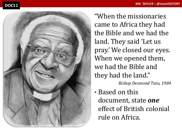 africa dbq Analyze africa's actions and reacions during european scramble for africa dbq 758 words may 26th, 2014 4 pages when the europeans scrambled to colonize africa, the reactions of the natives was progressively more apprehensive.
