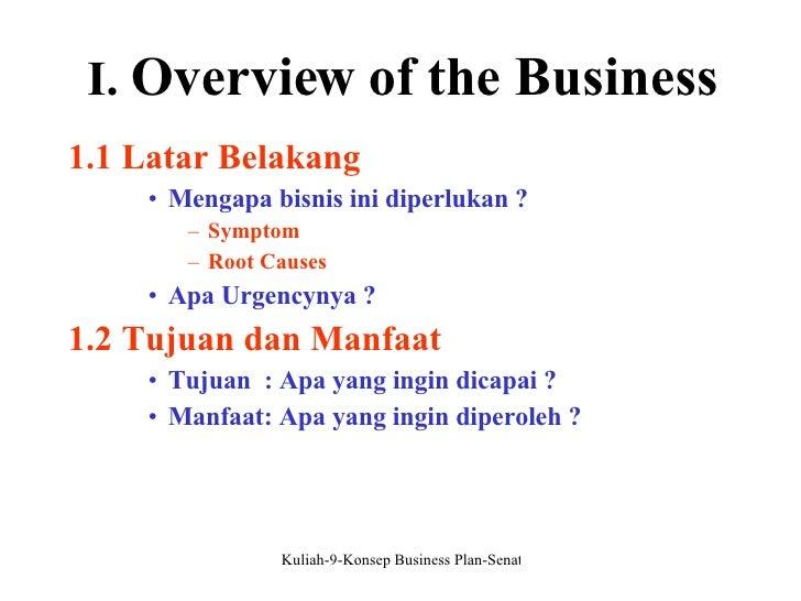 KONSEP BUSINESS PLAN Dr. Yulizar Kasih, S.E., M.Si.