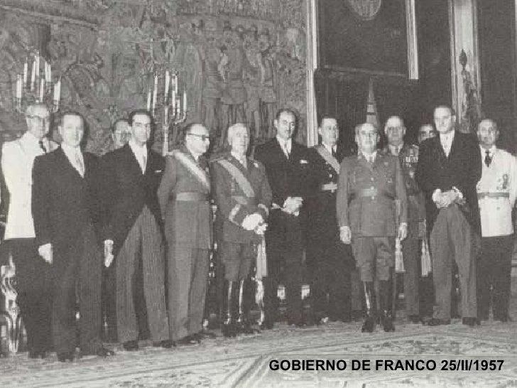 GOBIERNO DE FRANCO 25/II/1957