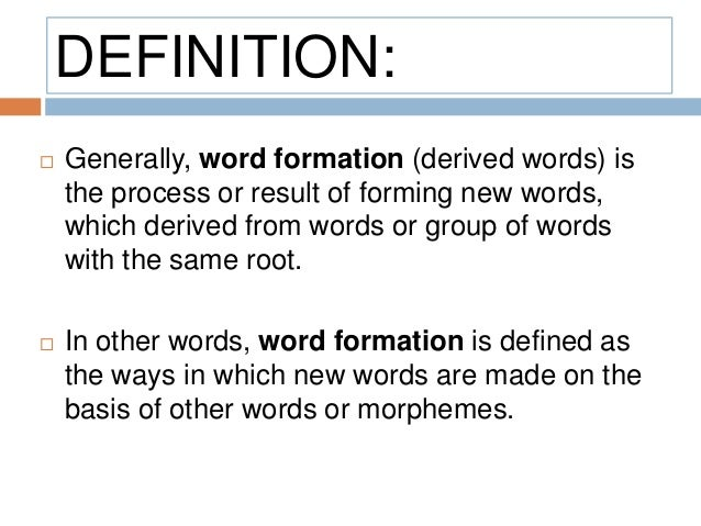 what is the definition of word