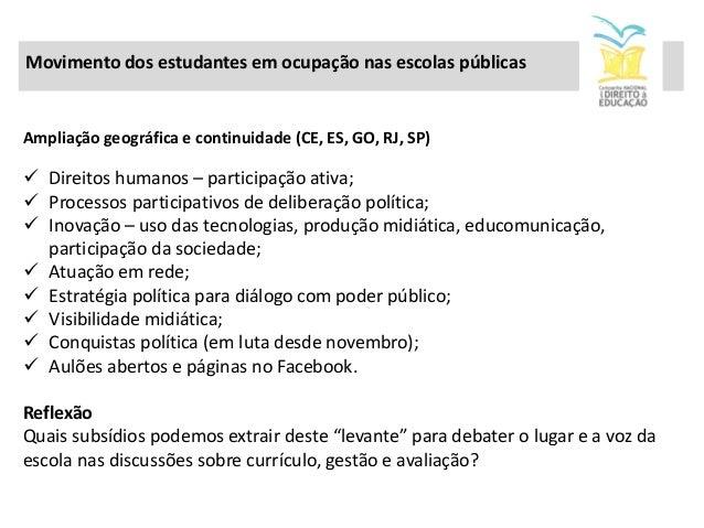 Vídeo gravado pelos alunos da EE Fernão Dias Paes, em São Paulo, para exibição em audiência pública na Câmara dos Deputado...