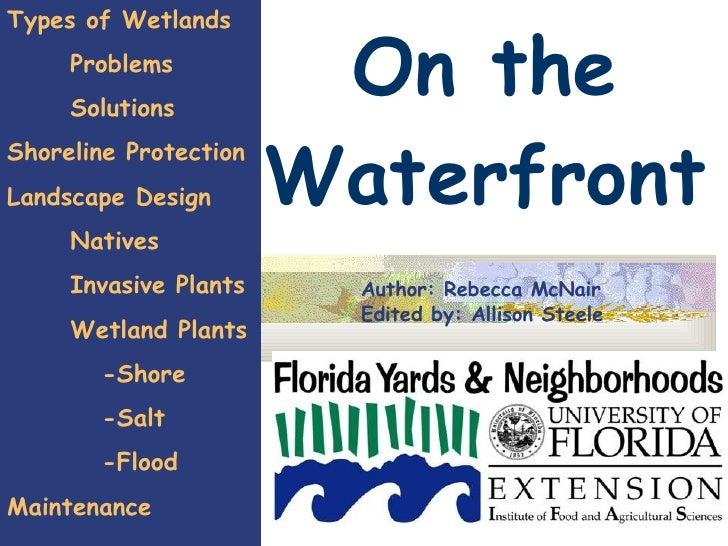 On the Waterfront Types of Wetlands Problems Solutions Shoreline Protection Landscape Design Natives Invasive Plants Wetla...