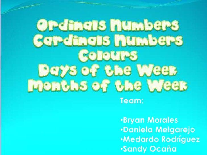 Team:<br /><ul><li>Bryan Morales