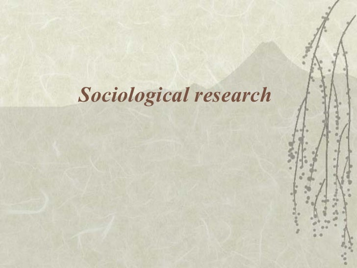 Sociological research