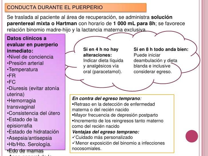 signos y sintomas del puerperio fisiologico